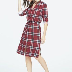 JustFab printed plaid dress